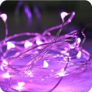 20 Pink LED - 1M Micro Fairy Lights on Silver Wire Multi Function Indoor&Outdoor