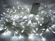100 White LED Fairy Lights, 10M-Clear Cable,Battery Operated,Indoor & Outdoor