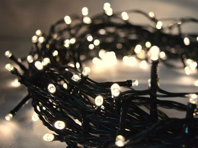 2in1 Warm White 200 LED Fairy Lights, 20M-Green Cable,Battery Operated,Indoor & Outdoor