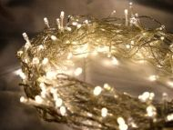 500 Warm White LED Multifunction Fairy Lights 50M On Clear Cable,Battery Operated,Indoor & Outdoor