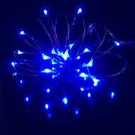 20 Blue LED - 1M Micro Fairy Lights on Silver Wire Multi Function Indoor&Outdoor