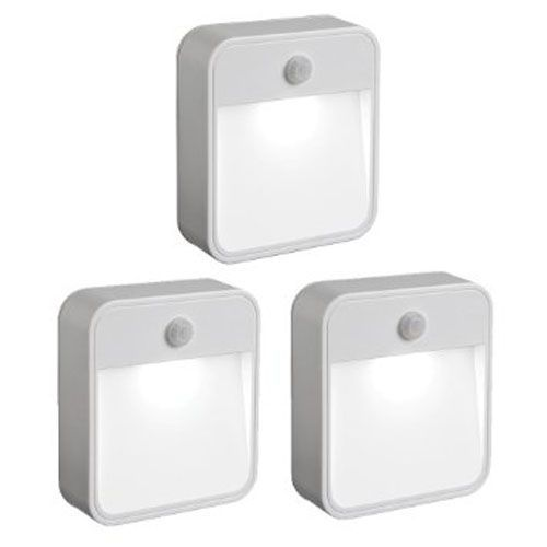 Mr Beams Indoor Wireless Battery Powered LED Universal Motion Sensor Nightlight-Pack of 3