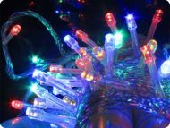 Multi Colour 300 LED Fairy Lights, 30M-Clear Cable, Multi Action (with controller), Indoor&Outdoor