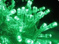 Green 100 LED Fairy Lights, 10M-Clear Cable, Multi Action (with controller), Indoor&Outdoor