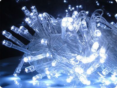 White 200 LED Fairy Lights, 20M-Clear Cable, Multi Action (with controller), Indoor&Outdoor