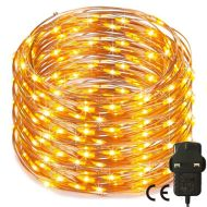 200 Warm White Led 20M Micro Fairy Lights Mains Operated