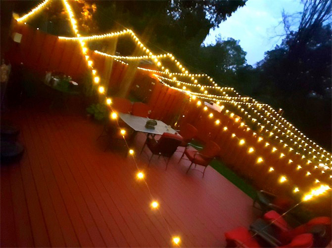 300 Warm White Led 30m Micro Fairy Lights Mains Operated
